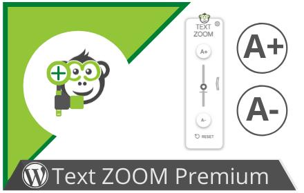 Lass Deine User Ihre individuelle Schriftgröße einstellen. Das Text ZOOM Premium WordPress-Plugin integriert eine neue Möglichkeit die Schriftgröße auf Deiner Seite zu ändern.